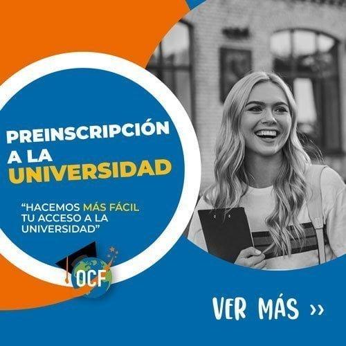 Preinscripción universitaria a la universidad Española